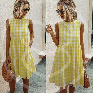 SPRING LOVE Gingham Mini Dress